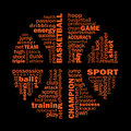 Basketball collage Royalty Free Stock Photo