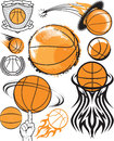 Basketball collection clip art of icons and elements Stock Images