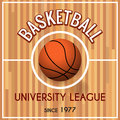 Basketball college or university league poster Royalty Free Stock Photo