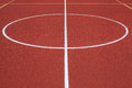 Basketball court detail of red public outdoor Royalty Free Stock Photo