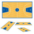 Basketball court floor plan. Royalty Free Stock Photography