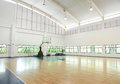 Basketball court school gym indoor Stock Images