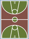 Basketball court vector illustration backgrounds Royalty Free Stock Image