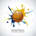 Basketball design over gray background vector illustration Royalty Free Stock Photo