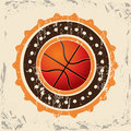Basketball design over vintage background vector illustration Royalty Free Stock Photos