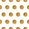 stock image of  Basketball doodle seamless pattern