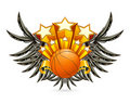 Basketball Emblem Royalty Free Stock Images