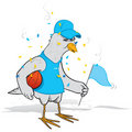 Basketball fan bird Stock Photography