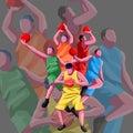 basketball flat character free vector