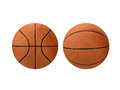 Basketball front and side view isolated on white background Royalty Free Stock Photos