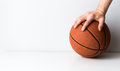 Basketball the game is in your hands concept Royalty Free Stock Photo
