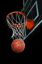Basketball Going Through Hoop Royalty Free Stock Photo