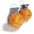 Basketball grenades hand d rendering isolated on white background Stock Photos