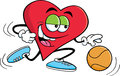 Basketball Heart Stock Image