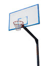 Basketball hoop and backboard in the white background isolated Royalty Free Stock Photo