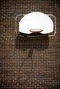 Basketball Hoop on Brick Wall Royalty Free Stock Photo