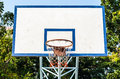 Basketball hoop and a cage in the park Royalty Free Stock Image