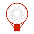 Basketball hoop illustration on white Stock Photo