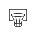 Basketball hoop line icon, outline vector sign, linear style pictogram isolated on white