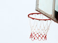 Basketball hoop and net isolated on white background Royalty Free Stock Image