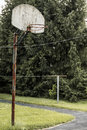 Basketball Hoop Rural Indiana Royalty Free Stock Photo
