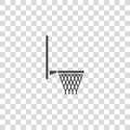 Basketball hoop vector icon