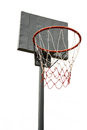Basketball hoop on white background Stock Photography