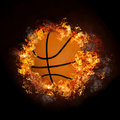 Basketball On Hot Fire Smoke