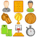 Basketball icon sport illustration of a set Royalty Free Stock Images