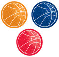 Basketball Icons Royalty Free Stock Photo