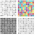 100 basketball icons set vector variant Royalty Free Stock Photo