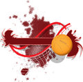 Basketball illustration of abstract sport background with a Royalty Free Stock Images