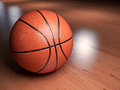 Basketball illustration of a on a court indoor Stock Photo