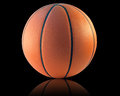 Basketball isolated a on the black background Royalty Free Stock Images