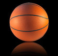 Basketball isolated a on the black background Royalty Free Stock Image