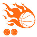 Basketball isolated objects on white background vector illustration eps Royalty Free Stock Images