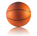 Basketball isolated a on the white background Stock Images