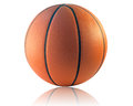 Basketball isolated a on the white background Royalty Free Stock Photo