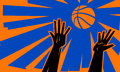 Basketball Jump Ball Royalty Free Stock Photo