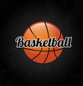 Basketball label over black background vector illustration Stock Photos
