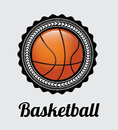 Basketball label over gray background vector illustration Stock Image