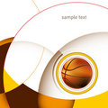 Basketball layout. Royalty Free Stock Photo