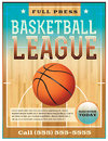 Basketball league flyer a or poster perfect for announcements games leagues camps and more vector eps file is layered Royalty Free Stock Images