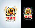Basketball logo template, basketball logotype, badge logo design template. Basketball Themed T shirt template.