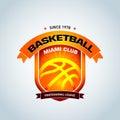Basketball logo template, basketball logotype, badge logo design template, sport logotype template.