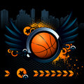 Basketball modern image Stock Photography