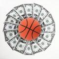 Basketball and money Stock Photos
