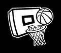 Basketball net a vector illustration of a and hoop Royalty Free Stock Image