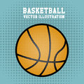 Basketball over dotted background vector illustration Royalty Free Stock Images