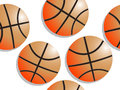 Basketball pattern Royalty Free Stock Photos